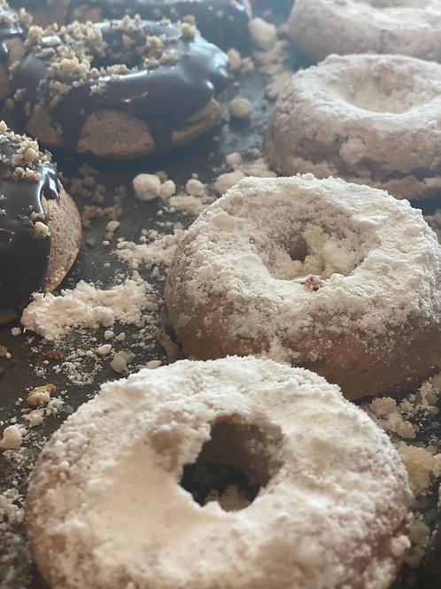 """Strawberry """"Powdered"""" Donut - Gluten Free/ Keto-Friendly"""
