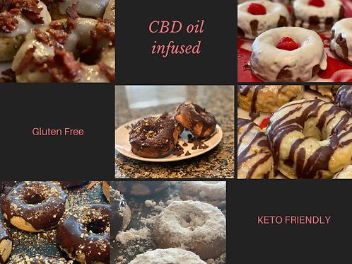 CBD infused Gluten Free/Keto Friendly Protein Donut
