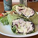 Cranberry Apple Chicken Salad Wrap