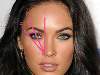 How to Get Beautifully Shaped Eyebrows:  Example of Megan Fox