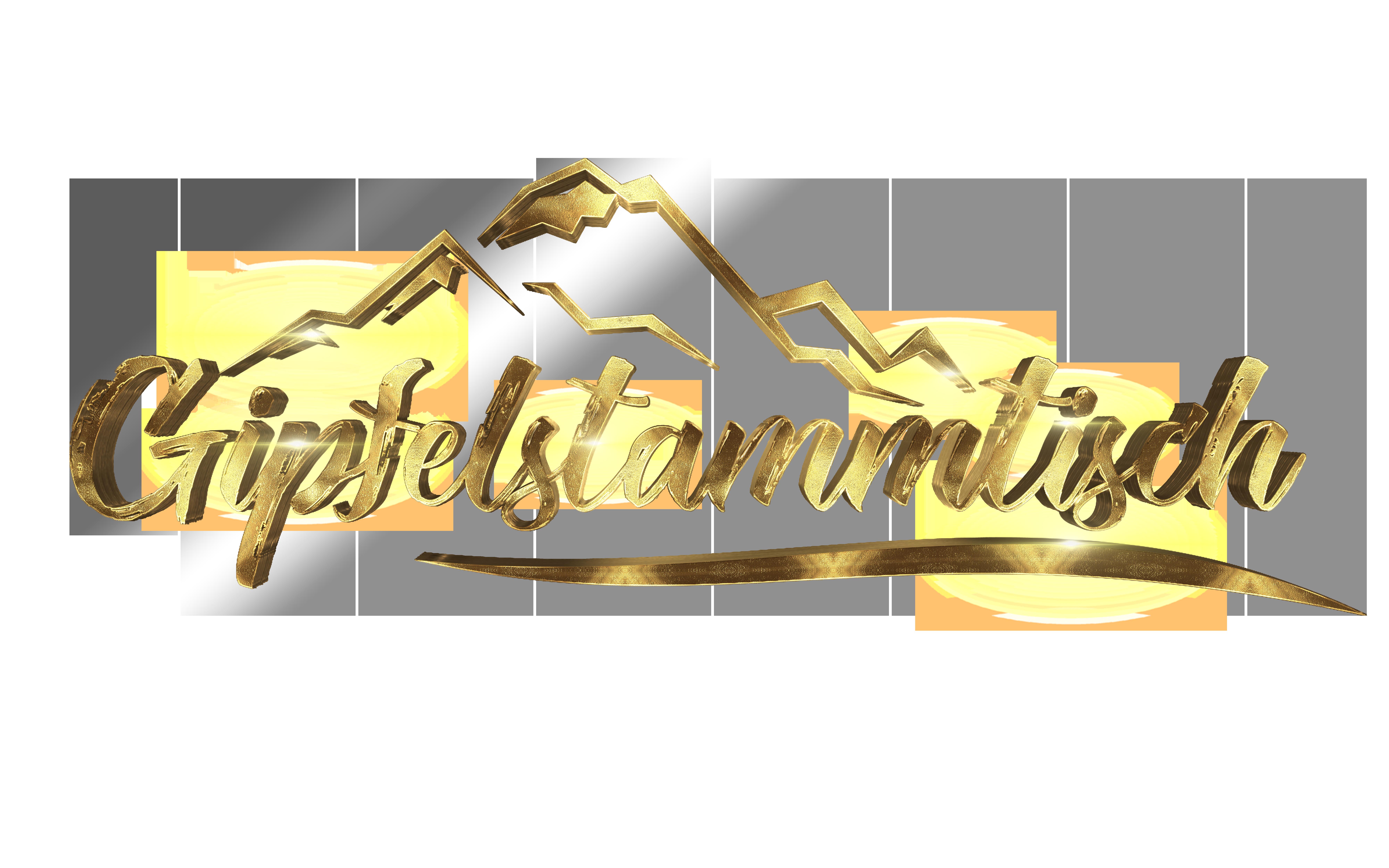 Gipfelstammtisch 3D FG Gold