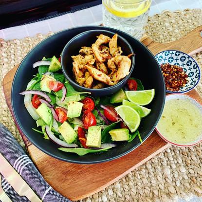 Chilli Chicken and Avocado Salad