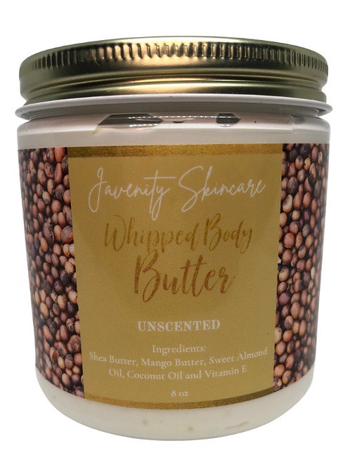 UNSCENTED WHIPPED BODY BUTTER 8oz