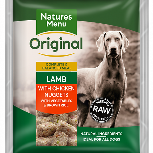 Natures Menu - Lamb with Chicken Nuggets