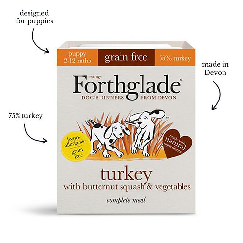 Forthglade - Turkey with butternut squash & vegetables (Puppy)