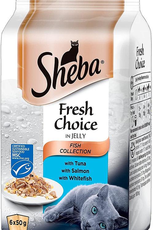 SHEBA FRESH & FINE FISH POUCHES - 6X50G