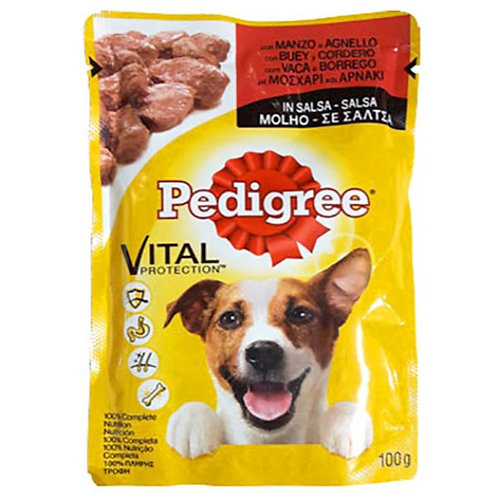 PEDIGREE POUCH ADULT BEEF & LAMB IN GRAVY - 100G