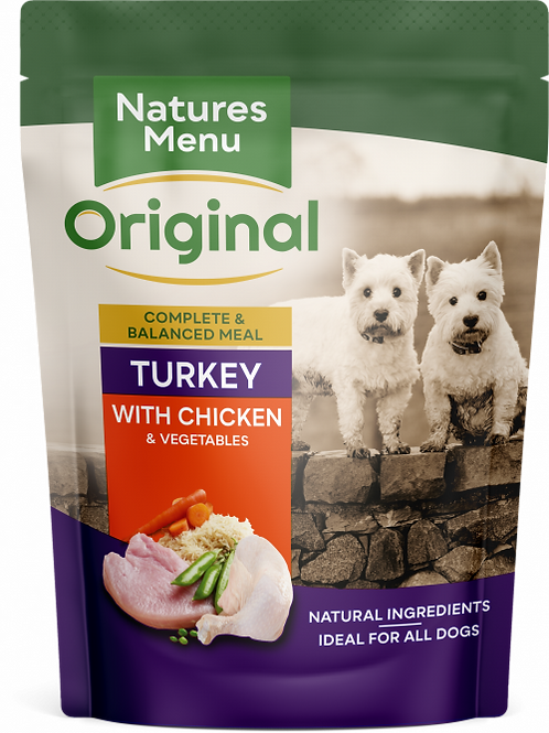 Natures Menu - Turkey with Chicken Pouches