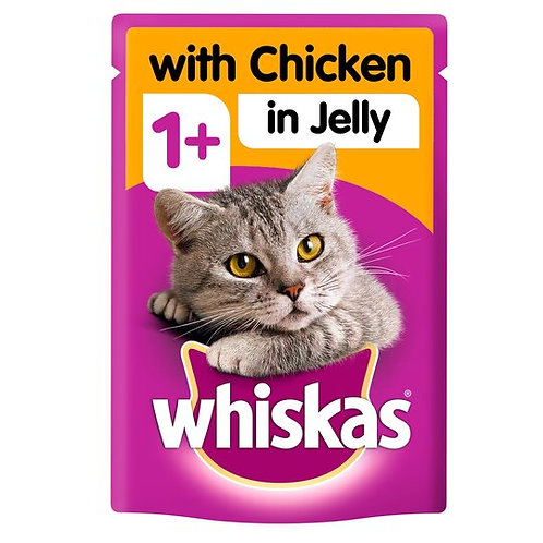 WHISKAS ADULT POUCH CHICKEN IN JELLY - 100G