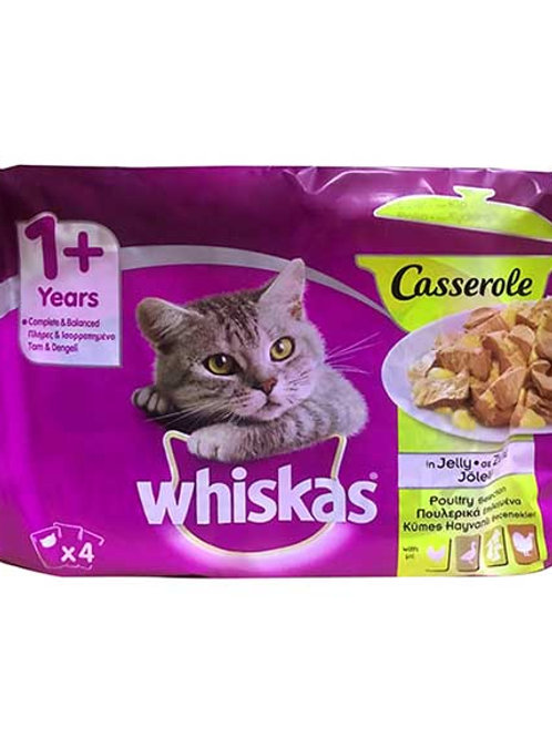 WHISKAS CASSEROLE MEAT CLASSIC SELECTION 4PACK - 4X85G