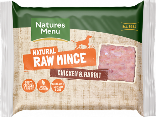 Natures Menu - Just Chicken and Rabbit Raw Mince