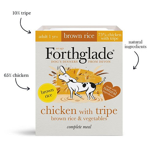 Forthglade - Chicken with tripe, brown rice & vegetables (Adult)
