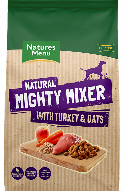 Natures Menu - Mighty Mixer with Turkey & Oats
