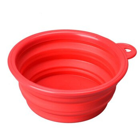 Pet Silicone Collapsible Travel Feeding Bowl Water Dish