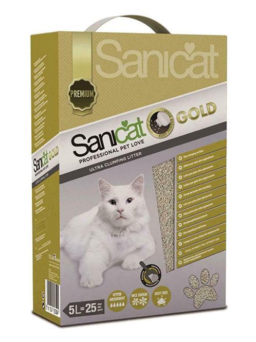 SANICAT GOLD ULTRA CLUMPING LITTER - 5LT