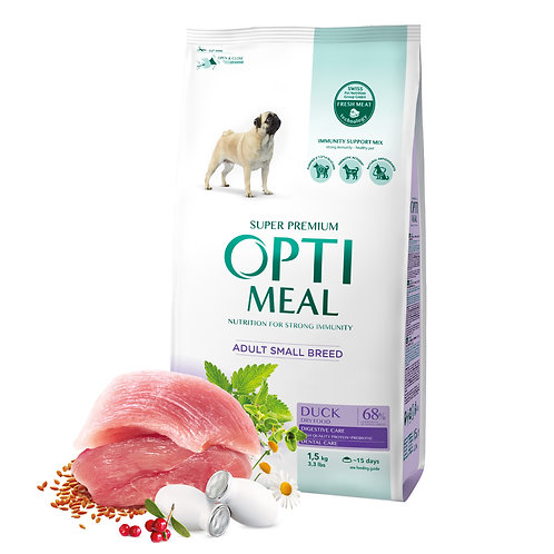 OPTIMEAL - Adult for Small Breeds - Duck