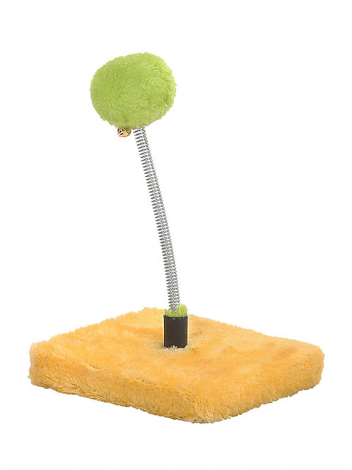 Spring Toy - Fluffy Ball Spring Toy