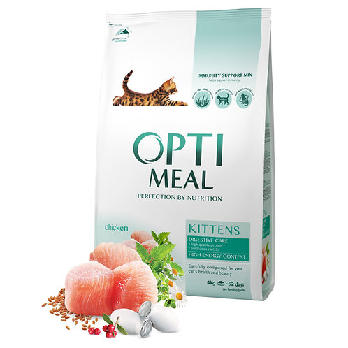 OPTIMEAL - Complete dry pet food for kittens chicken