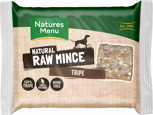 Natures Menu - Just Tripe Raw Mince