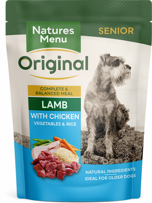 Natures Menu - Senior Lamb with Chicken Pouches