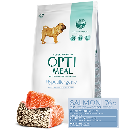 OPTIMEAL - Hypoallergenic Adult Dogs of Medium breed and Large Breeds – Salmon