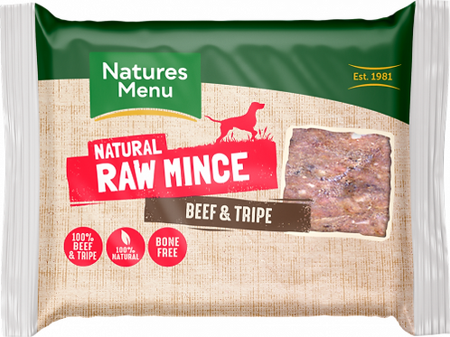 Natures Menu - Just Beef and Tripe Raw Mince