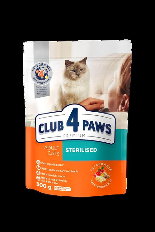 CLUB 4 PAWS Premium Sterilised. dry food for adult sterilised cats