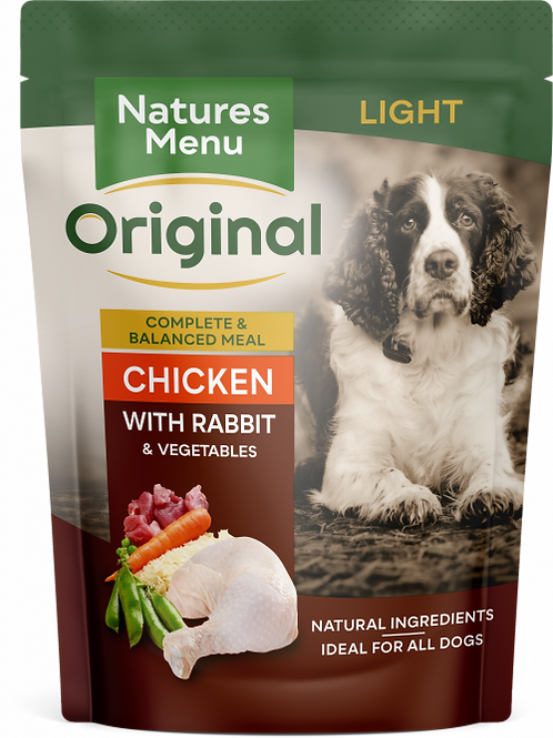 Natures Menu - Light Chicken with Rabbit Pouches
