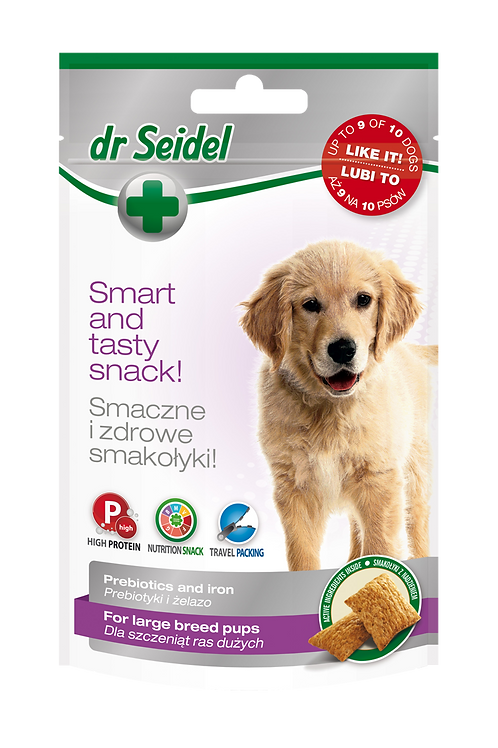 dr Seidel snacks for large breed puppies.