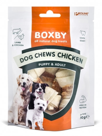 BOXBY DOG CHEWS WITH CHICKEN 6PCS