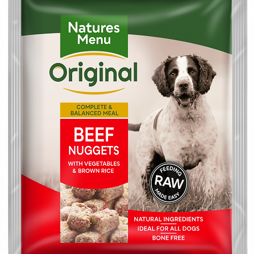 Natures Menu - Beef Nuggets Raw