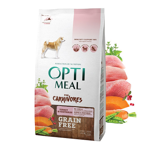 OPTIMEAL - Adult for all breeds - Turkey and Veggies