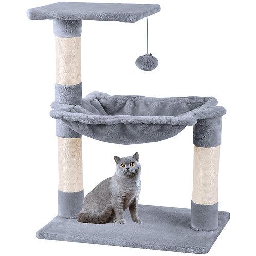 Cat Tree Scratching  Tower Climbing Tree Sisal Plush with Ball Hammock
