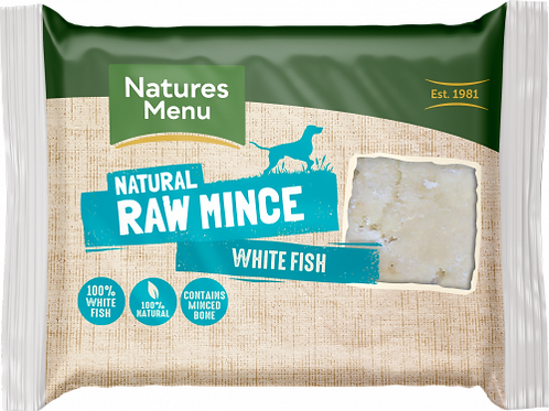 Natures Menu - Just White Fish Raw Mince