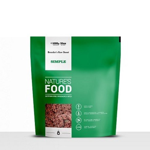 NATURE'S SIMPLE, BREEDER'S RAW BOOST 1 KG