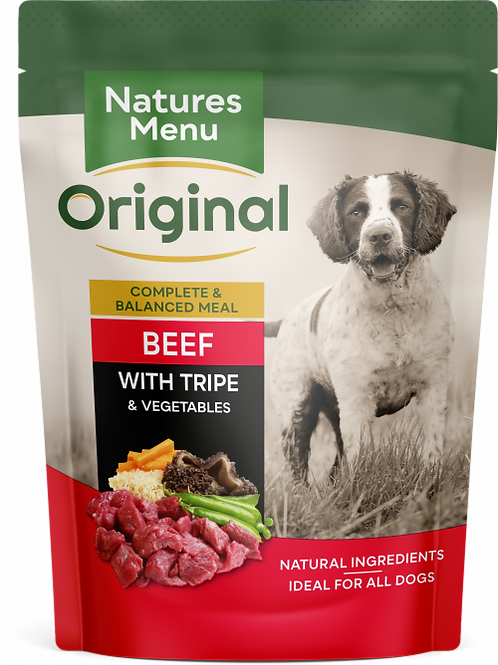 Natures Menu - Beef with Tripe Pouches