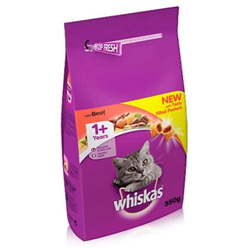WHISKAS ADULT DRY BEEF - 350G