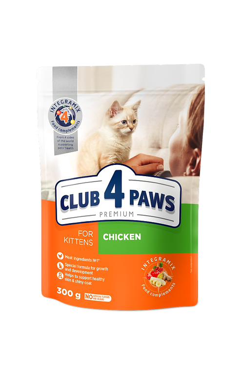 """CLUB 4 PAWS Premium for kittens """"Chicken"""".Complete dry pet food"""