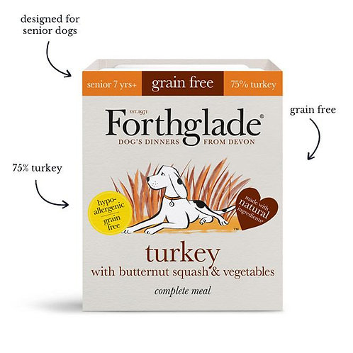 Forthglade - turkey with butternut squash & vegetables (Senior)