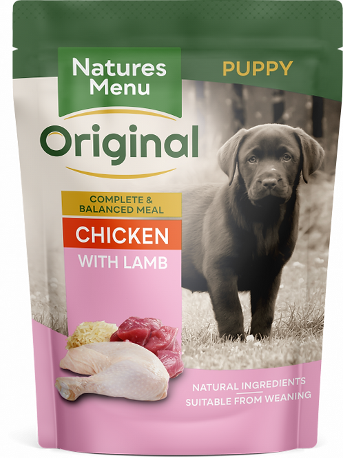 Natures Menu - Junior Chicken with Lamb Pouches