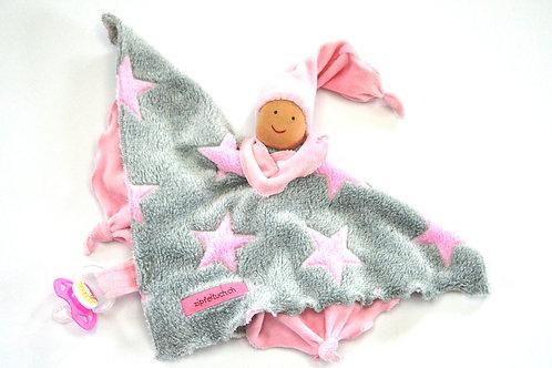 Zipfeltuch -Joggeli Sterne rosa