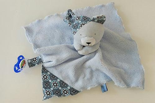 Zipfeltuch - Teddy blau
