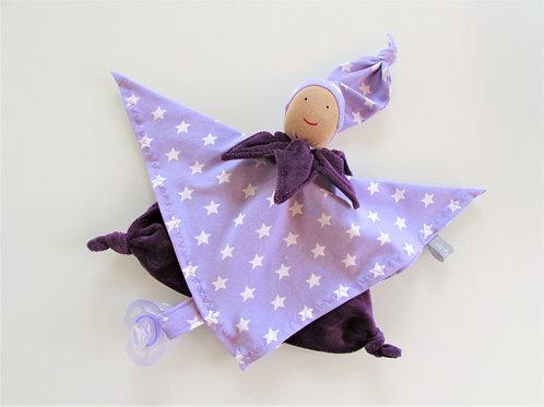 Zipfeltuch -Joggeli lila Sterne
