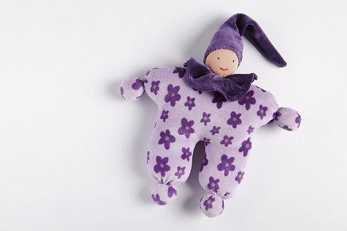 Schmuesepüppchen klein - lila Blumen
