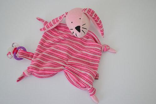 Zipfeltuch -Hase rosa
