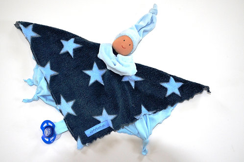 Zipfeltuch - Joggeli Sterne blau