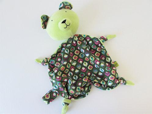 Zipfeltuch - Bär grün