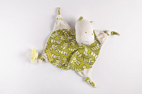 Zipfeltuch - Nilpferd grün