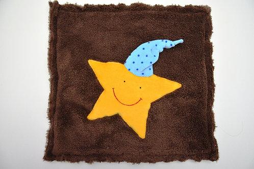 Kuschelkissen - Stern mit Mütze