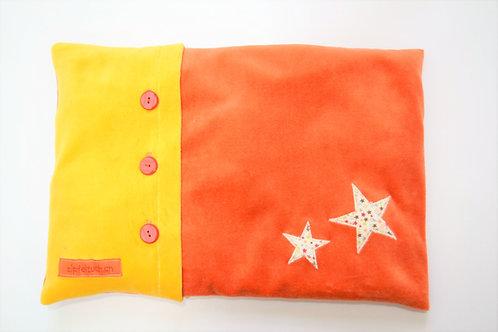 Namenskissen - gelb/orange